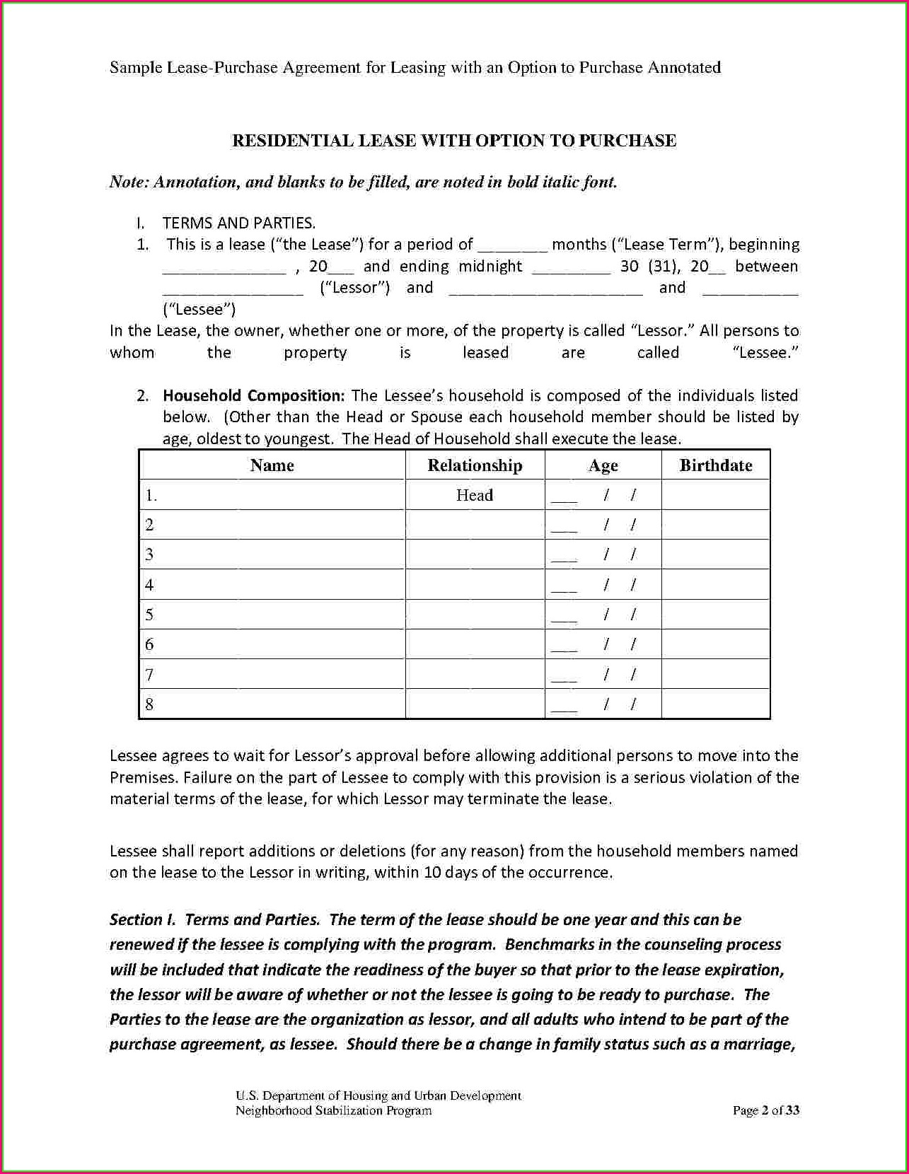 Addendum To Lease Template