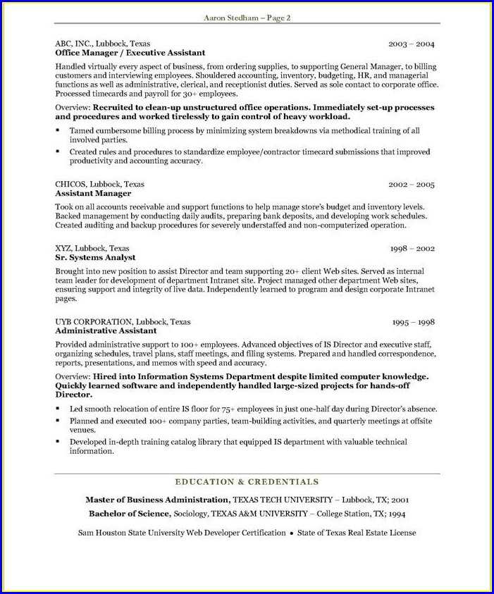 Administrative Assistant Resume Samples Free