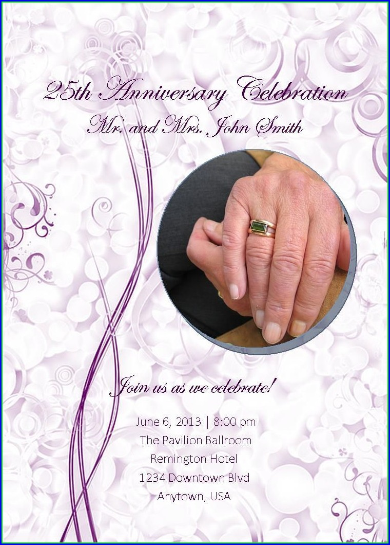 Anniversary Invites Templates