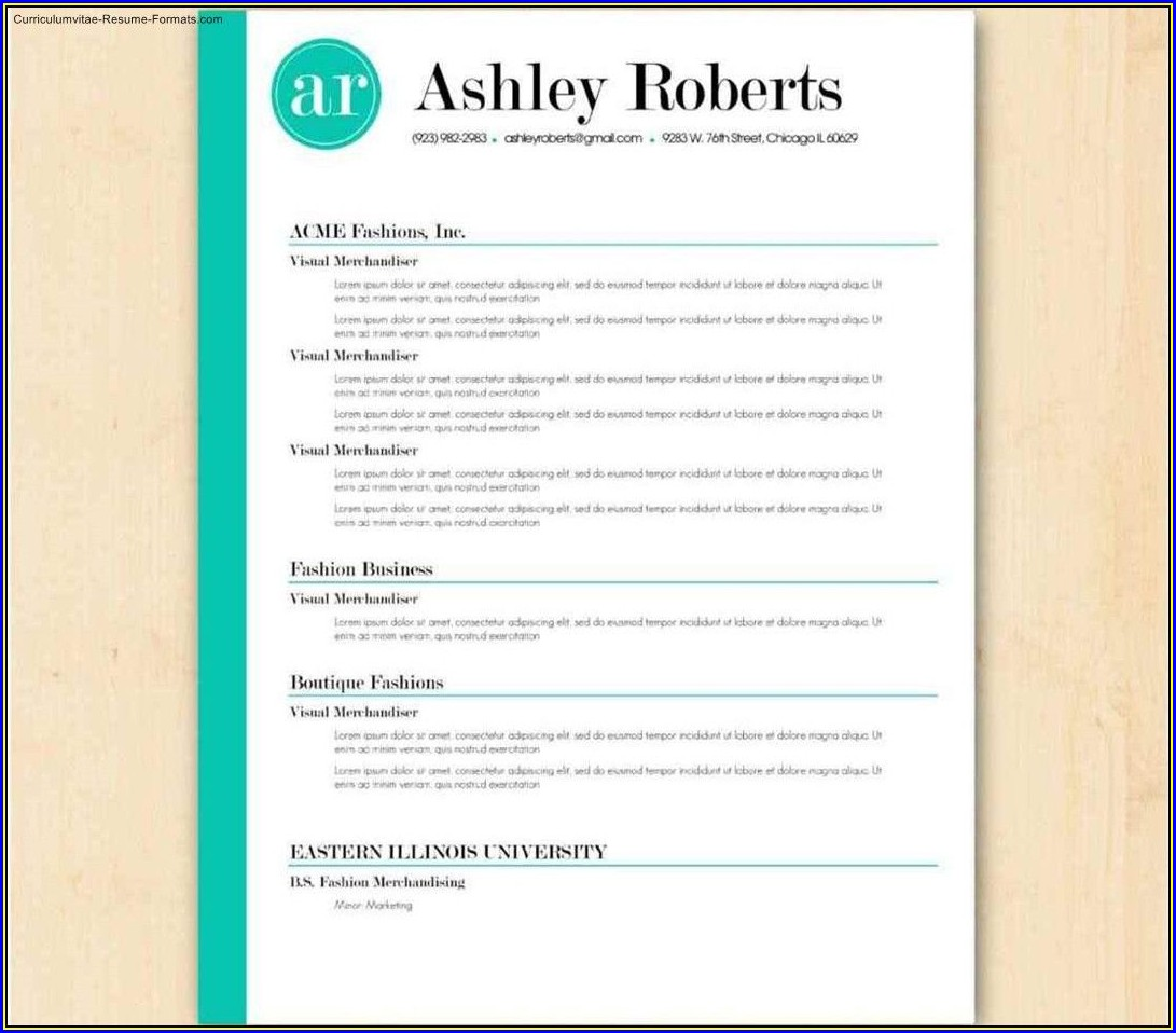 Australian Resume Templates For Word