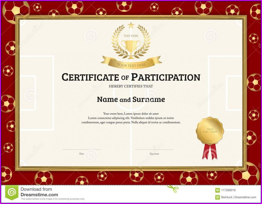 Award Certificate Sports Certificate Design Templates Free Download