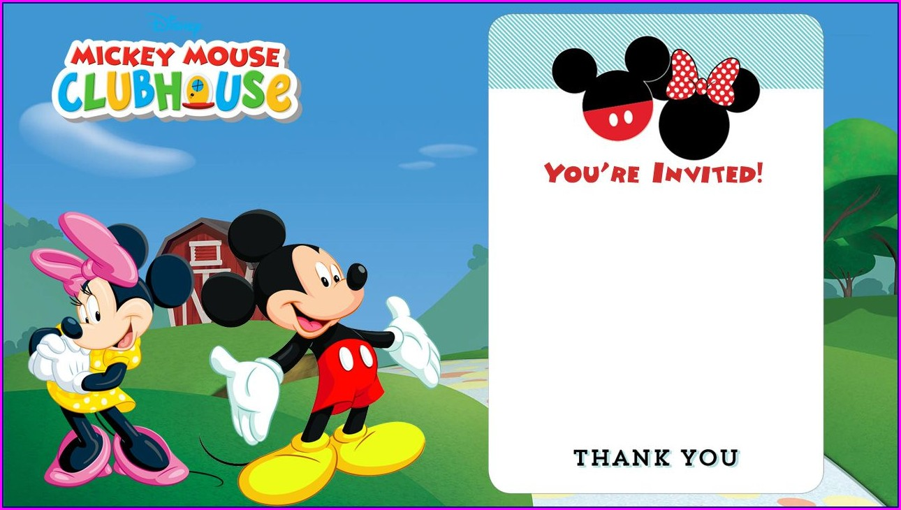 Baby Mickey Mouse Invitation Template Free Download