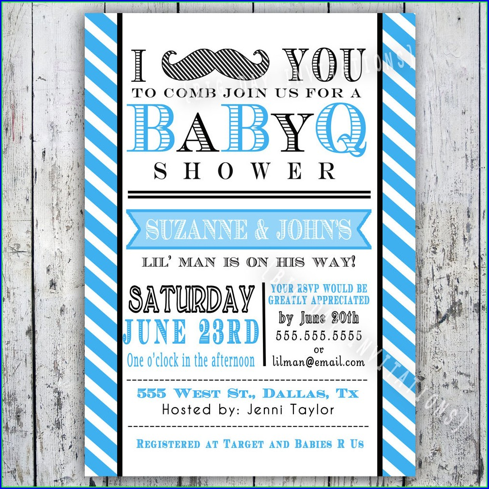 Baby Q Invitations Templates Free
