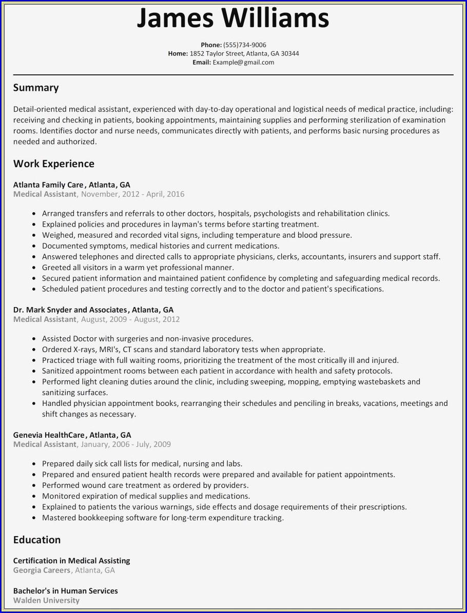 Bams Doctor Resume Format Free Download