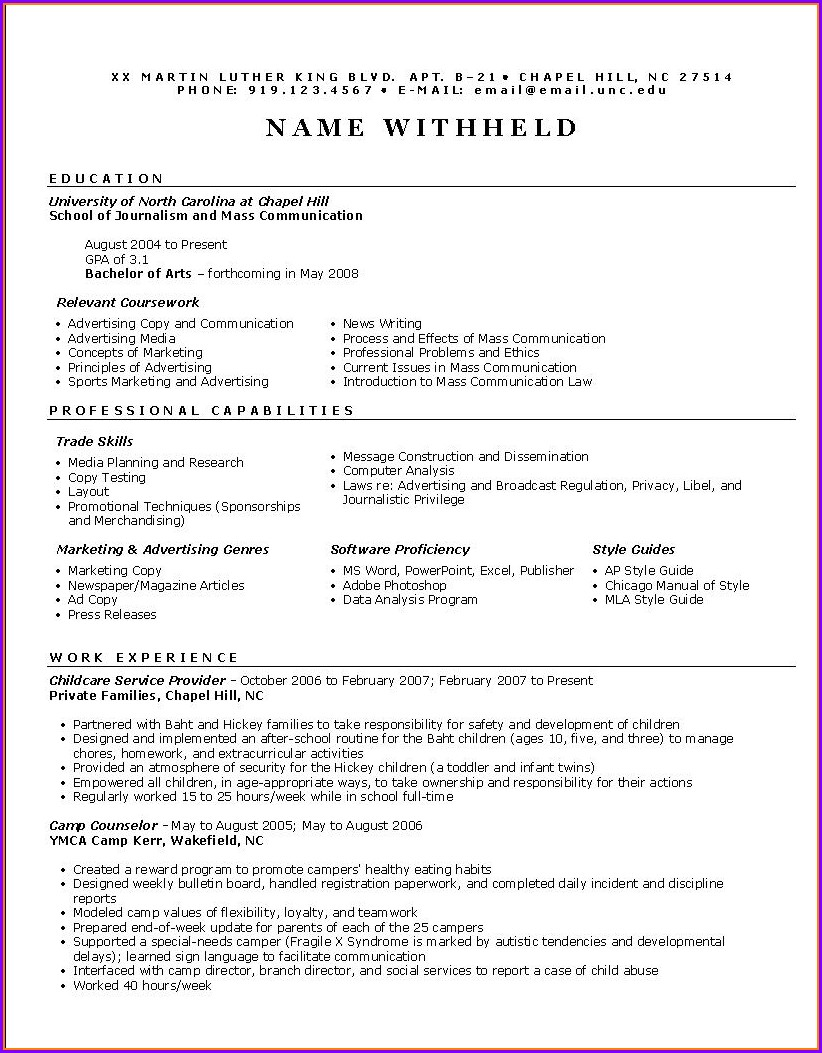 Basic Resume Format Pdf Download Free