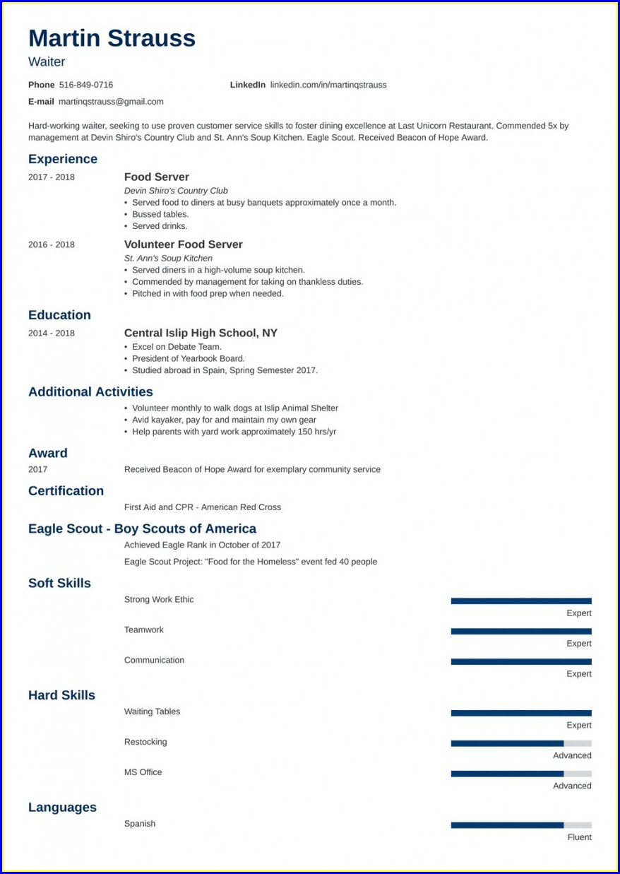 Best Free Printable Resume Builder