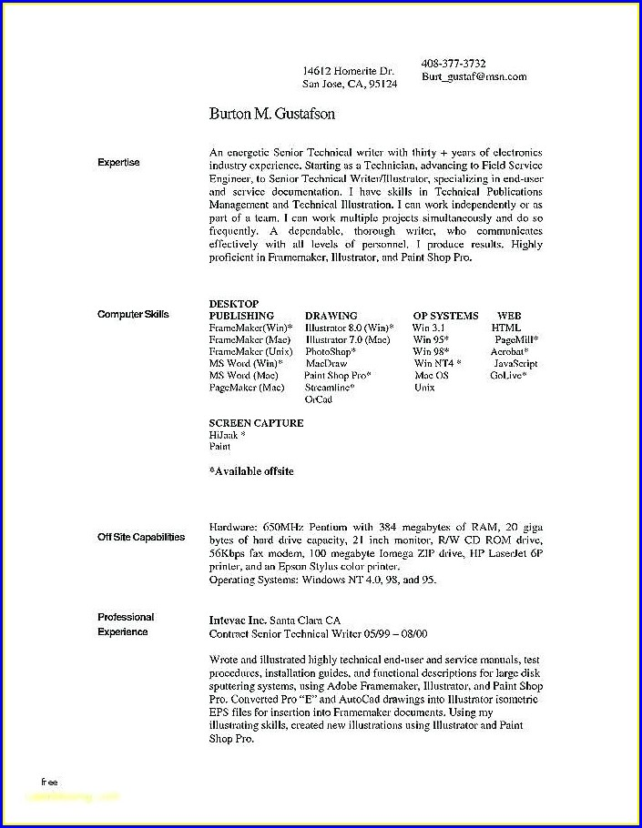 Best Free Resume Templates Mac
