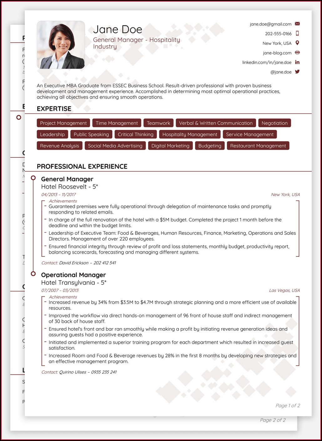 Best Resume Doc Download