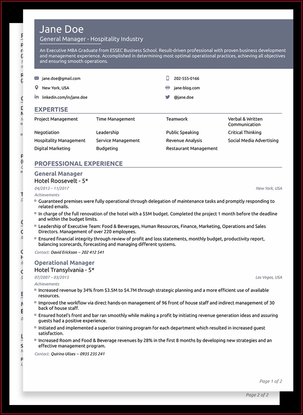 Best Resume Doc File Download