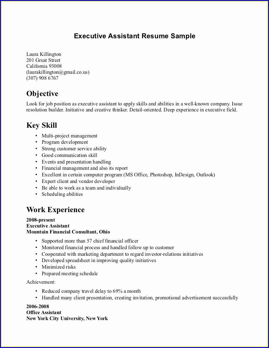 Best Resume For Hotel Management Freshers