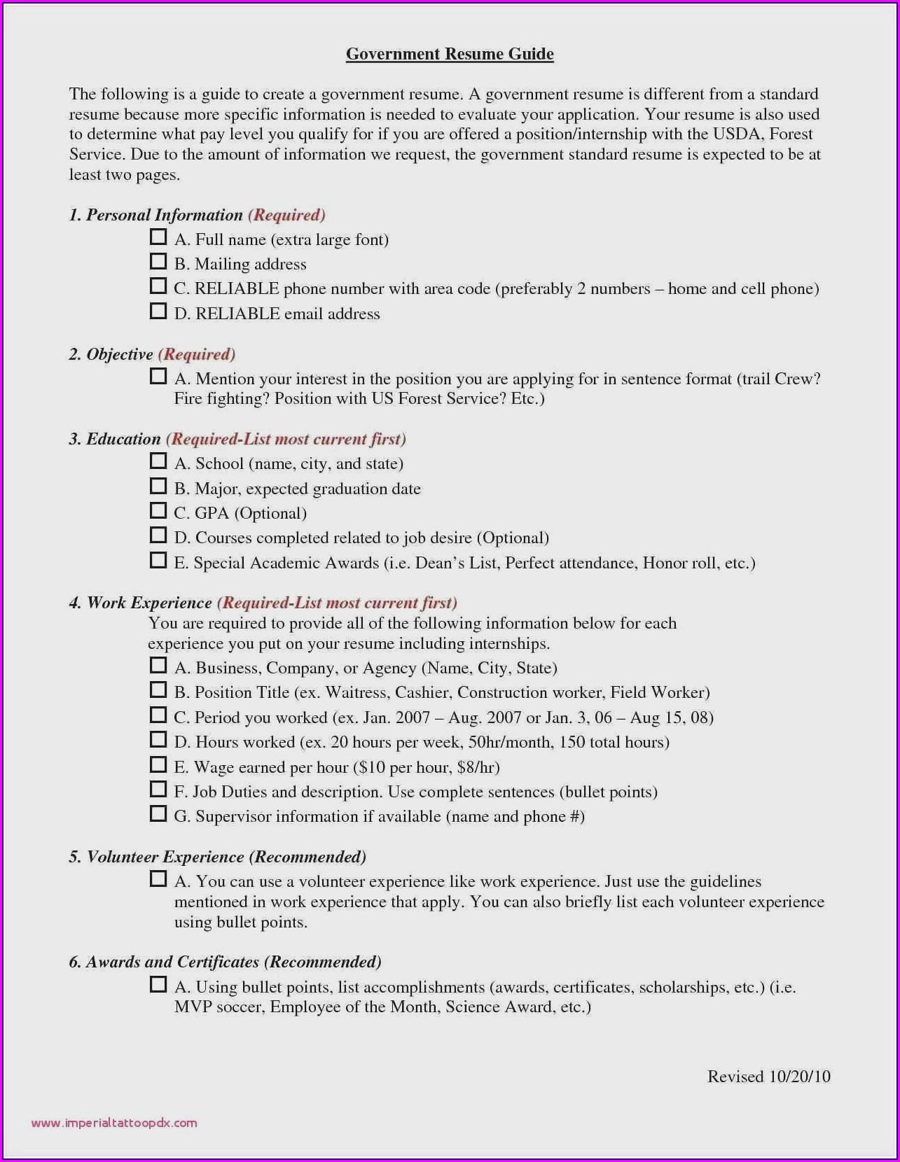 Best Resume Format For Hotelier