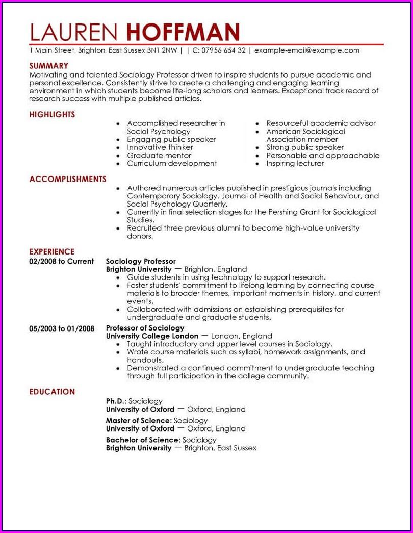 Best Resume Templates Education