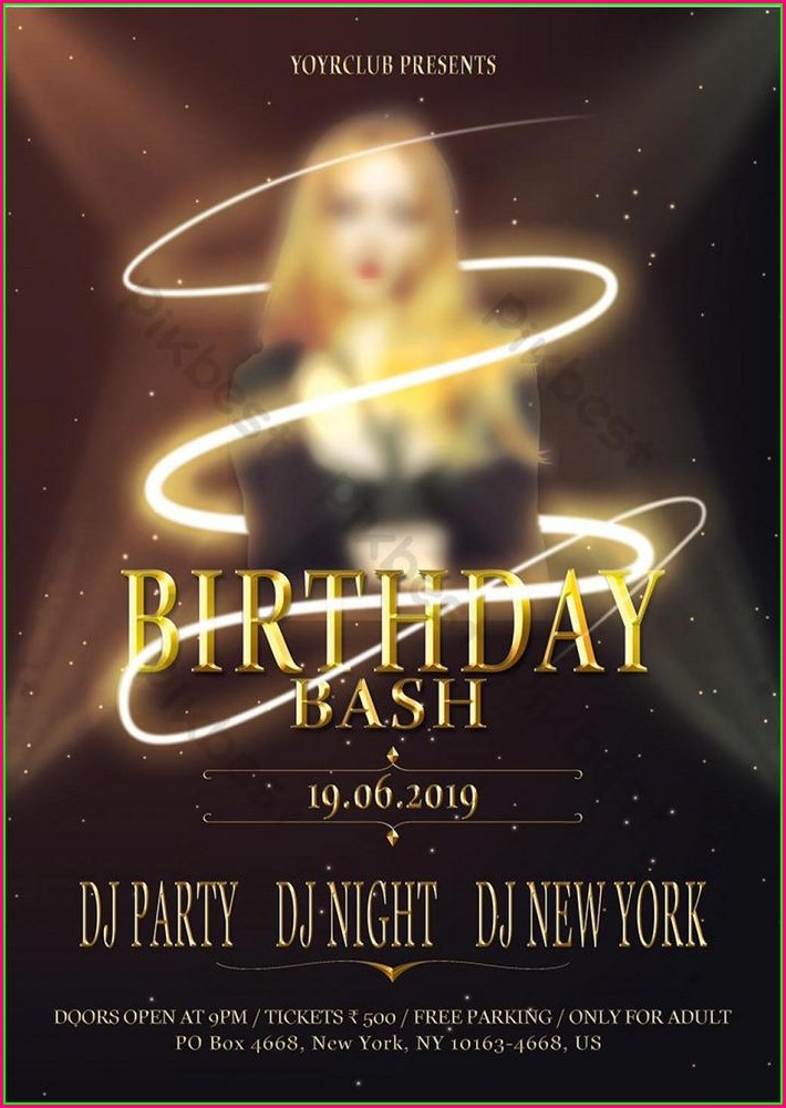 Birthday Party Flyer Template Free