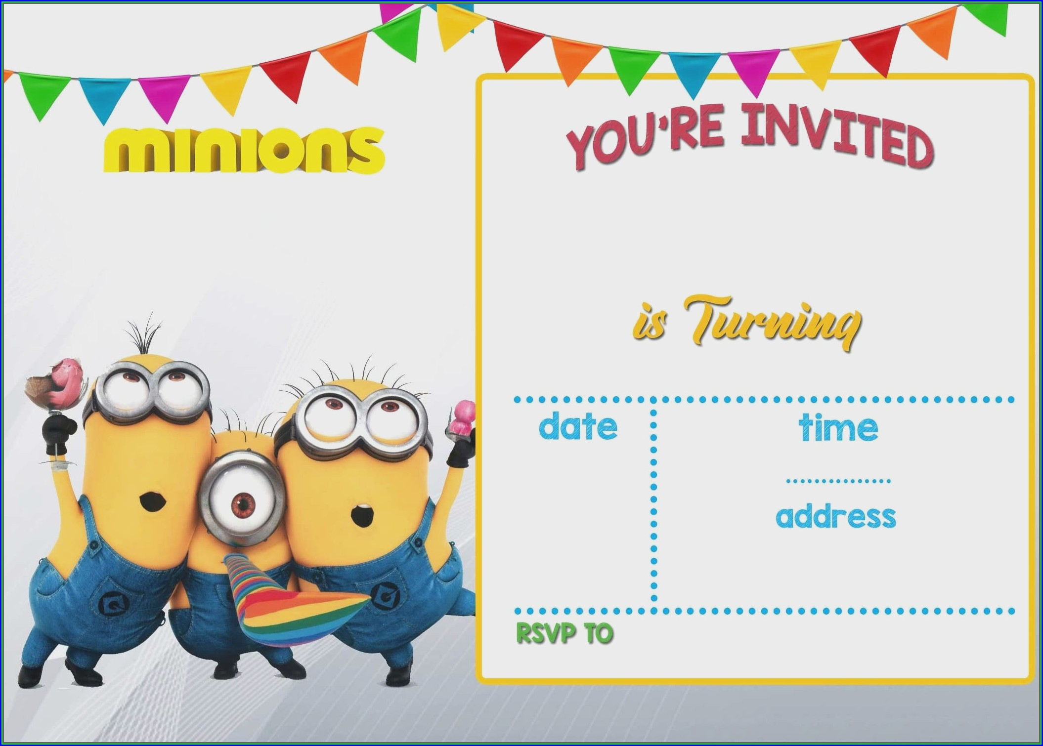 Blank 18th Birthday Invitation Templates