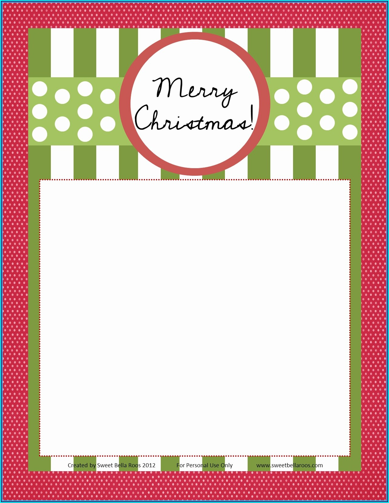 Blank Christmas Newsletter Template