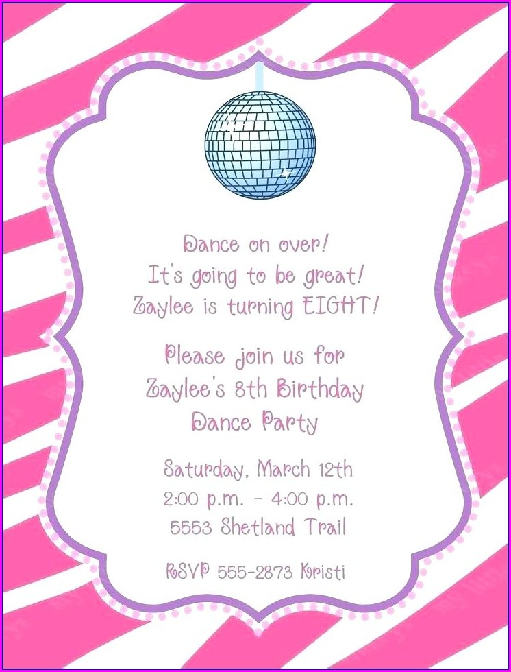 Blank Disco Invitation Template