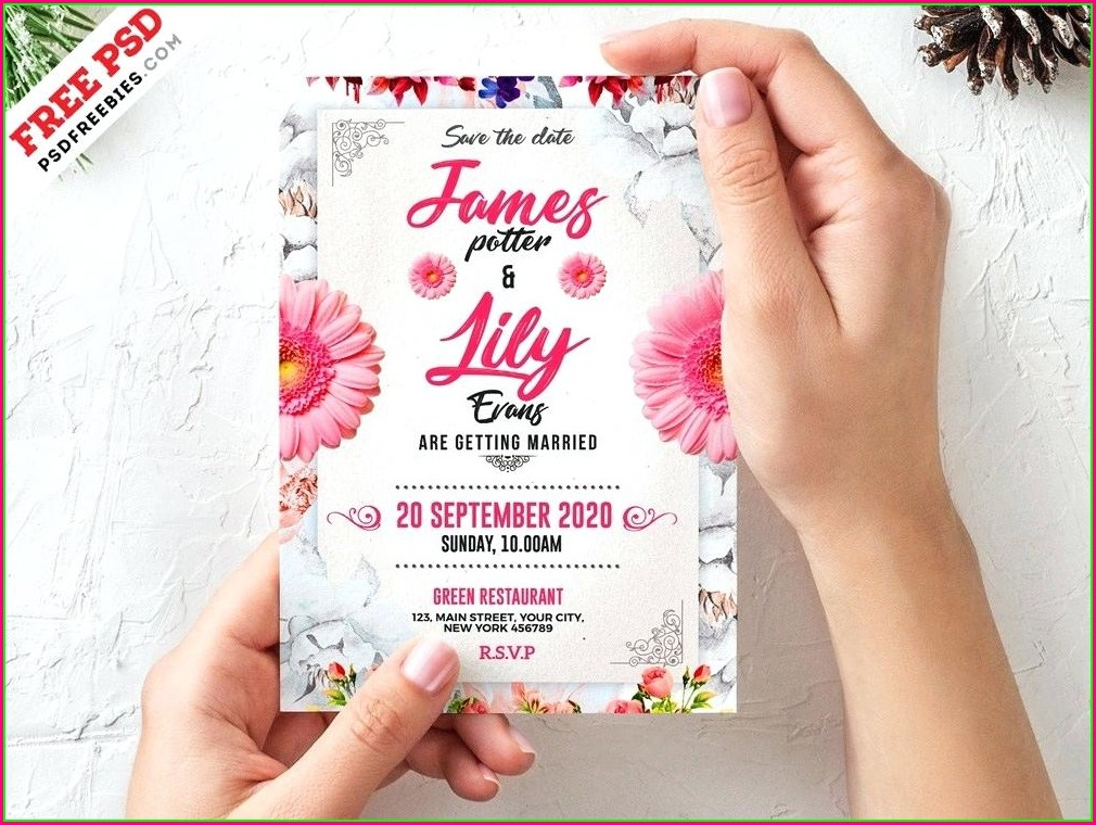 Blank Editable Wedding Invitation Templates Free Download