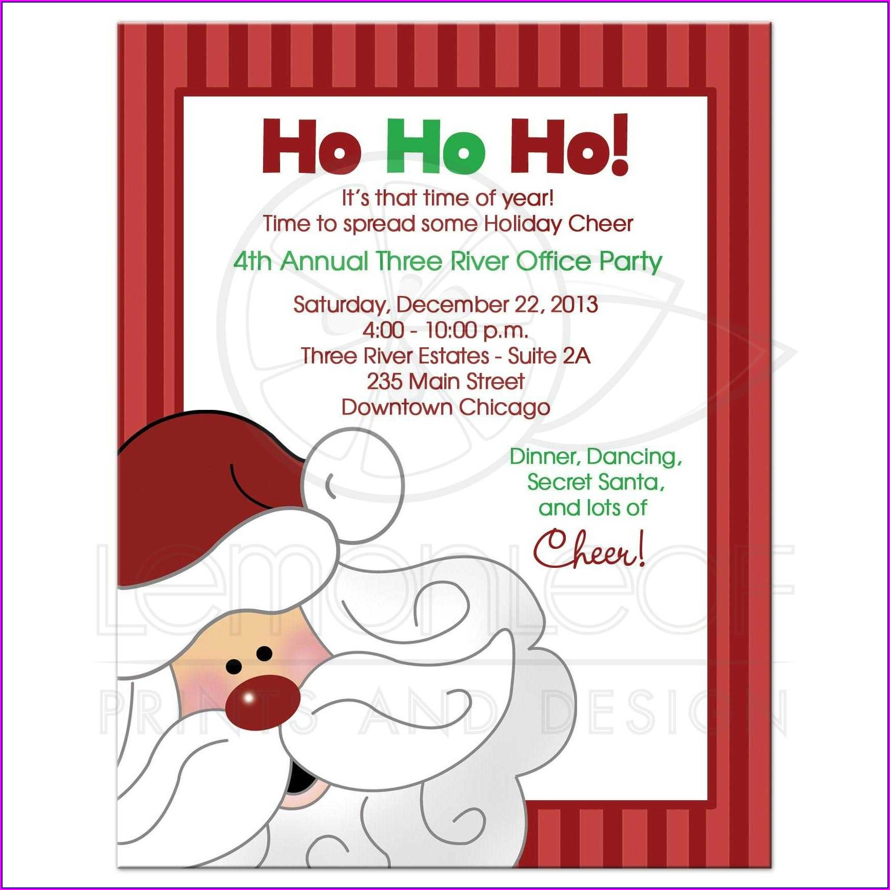 Blank Secret Santa Invitation Template