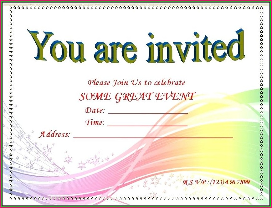 Blank Snowflake Invitation Template Free