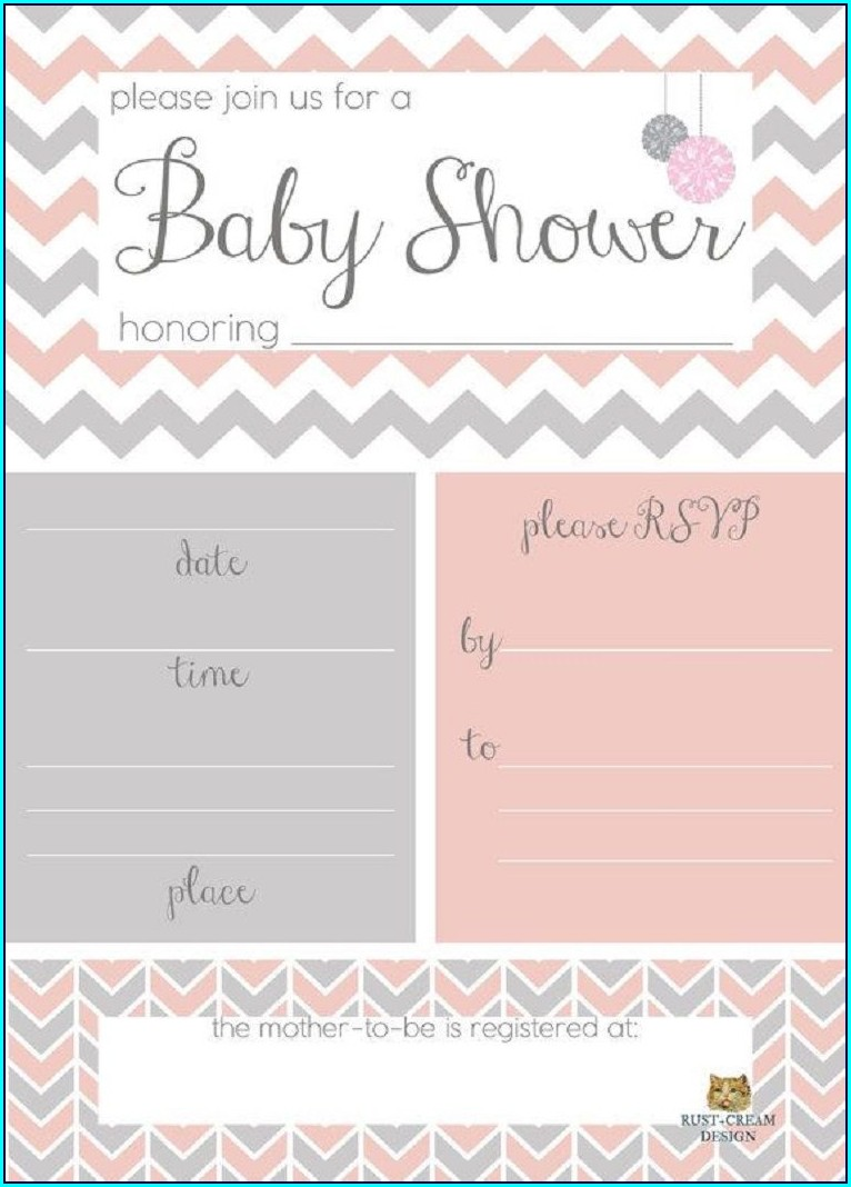 Blank Winnie The Pooh Baby Shower Invitations Templates