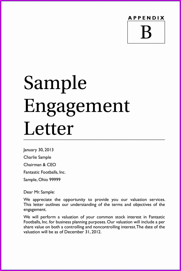 Bookkeeping Engagement Letter Template Canada