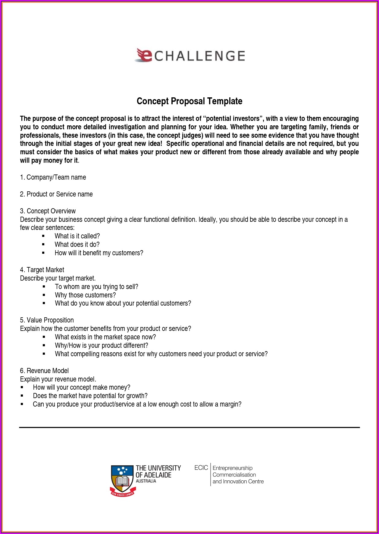 Business Proposition Startup Investment Proposal Template