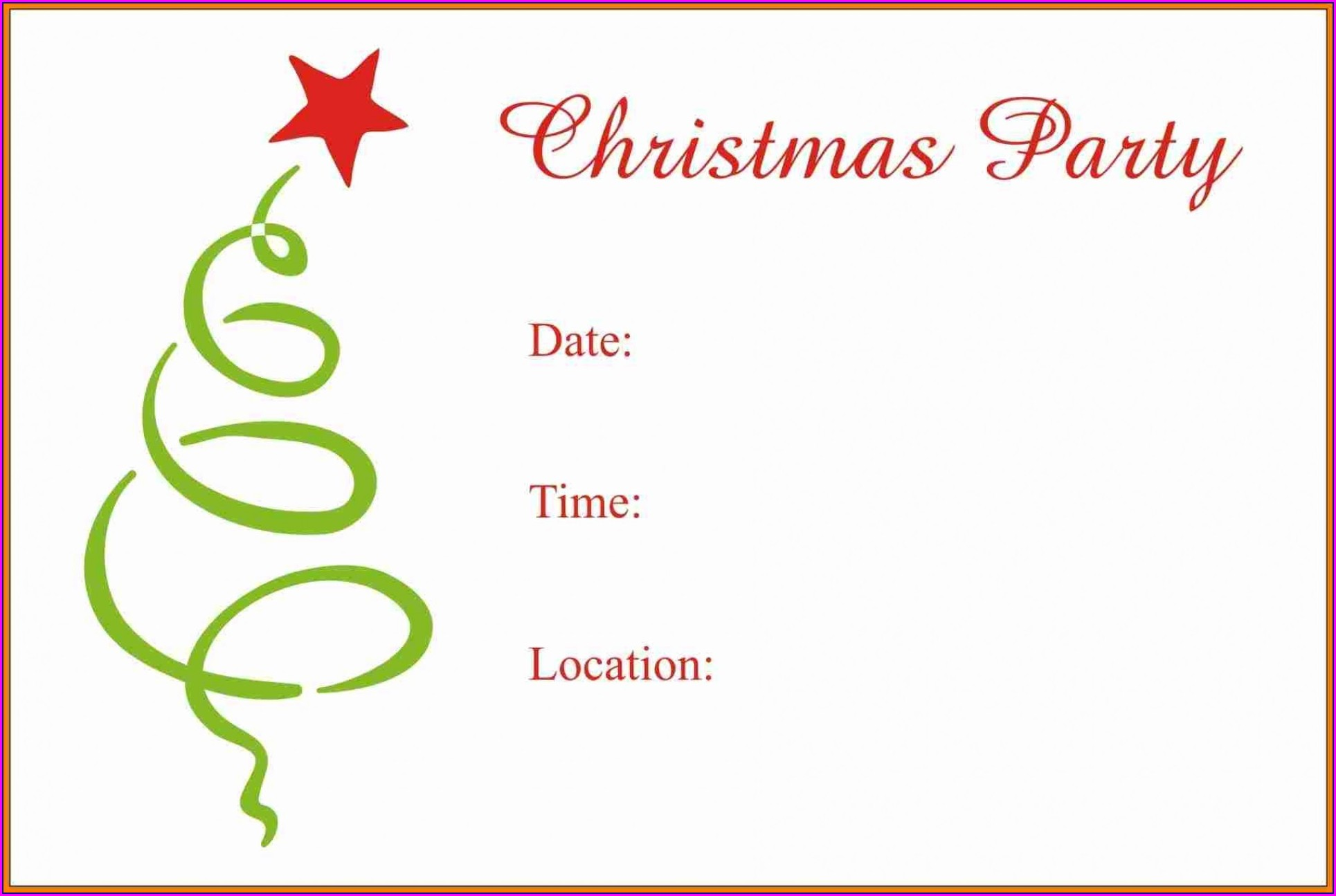 Christmas Dinner Invitation Template Word