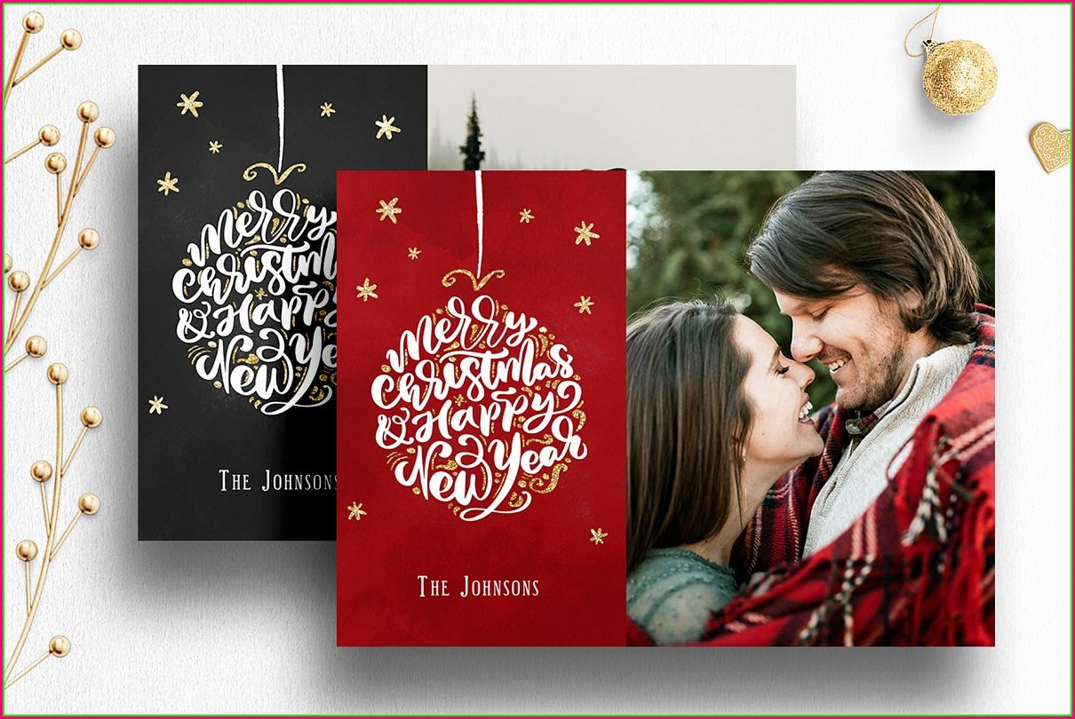 Christmas Photo Card Templates Photoshop Free