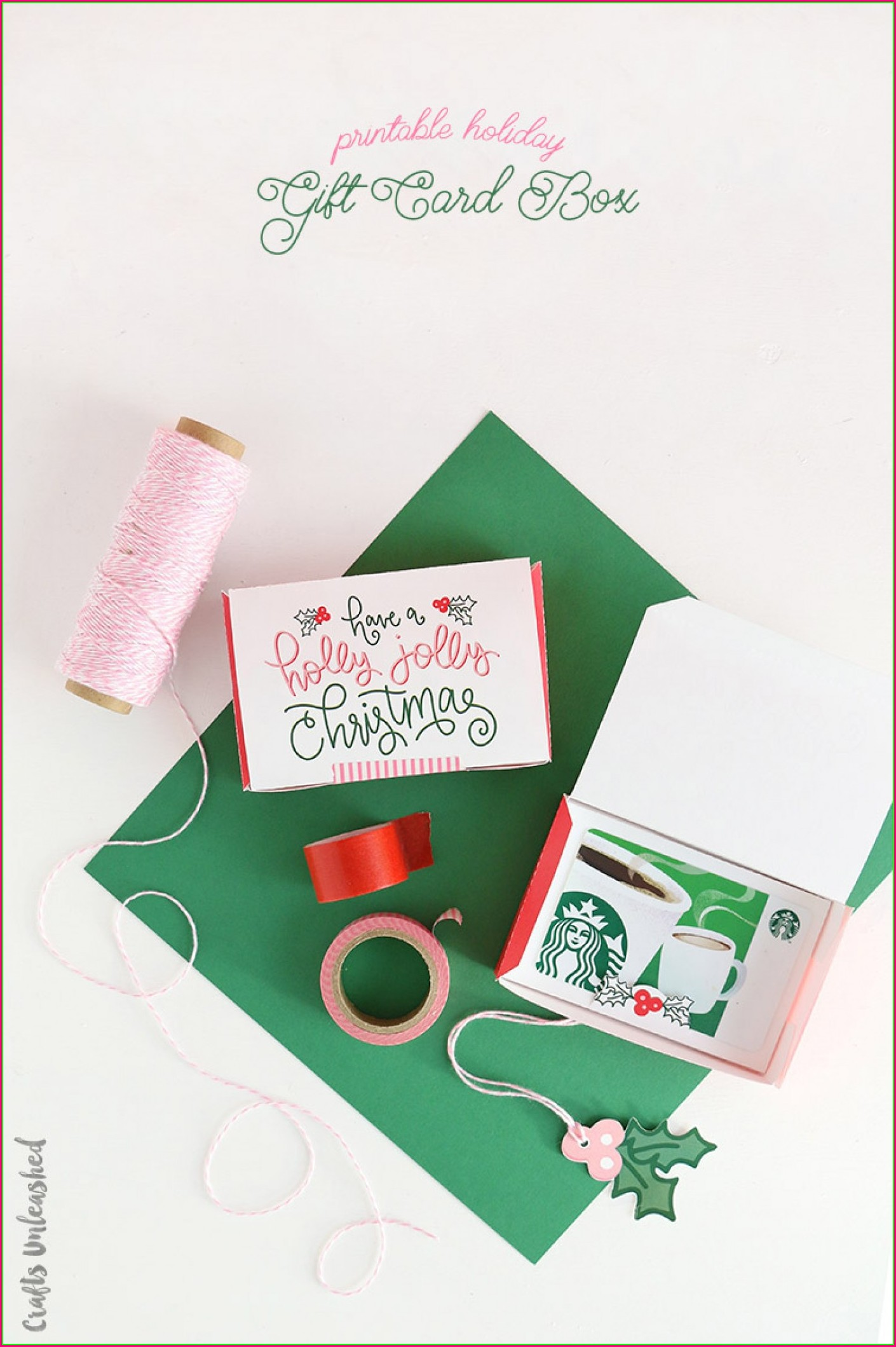 Christmas Printable Gift Card Envelope Template