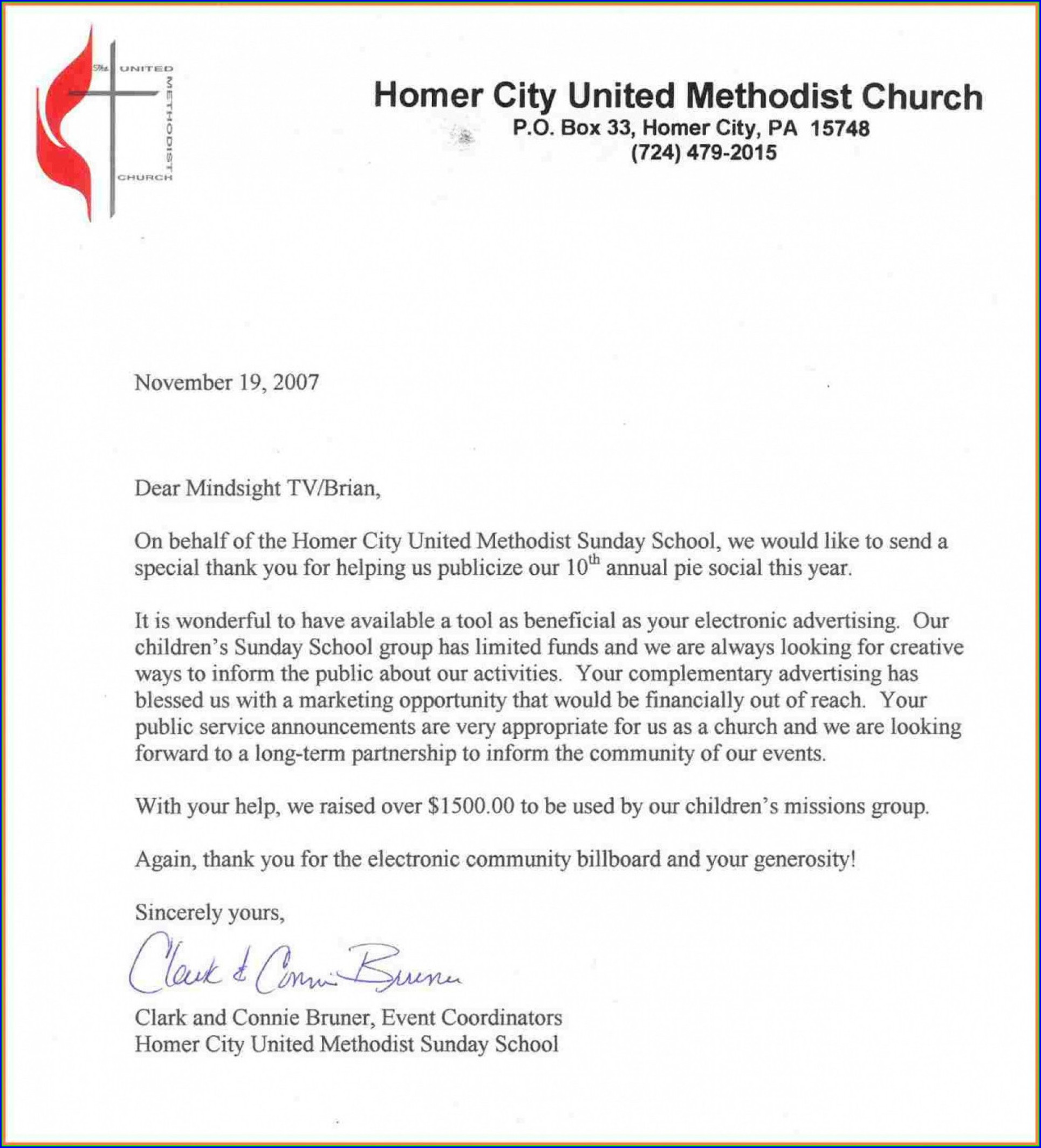 Church Donation Request Letter Template