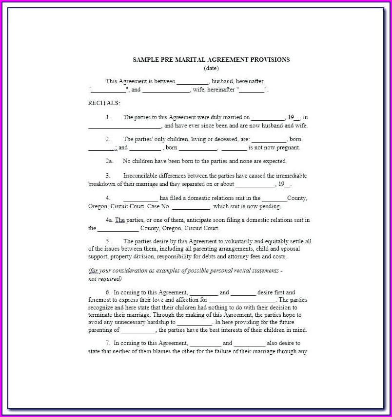 Cohabitation Agreement Ontario Template