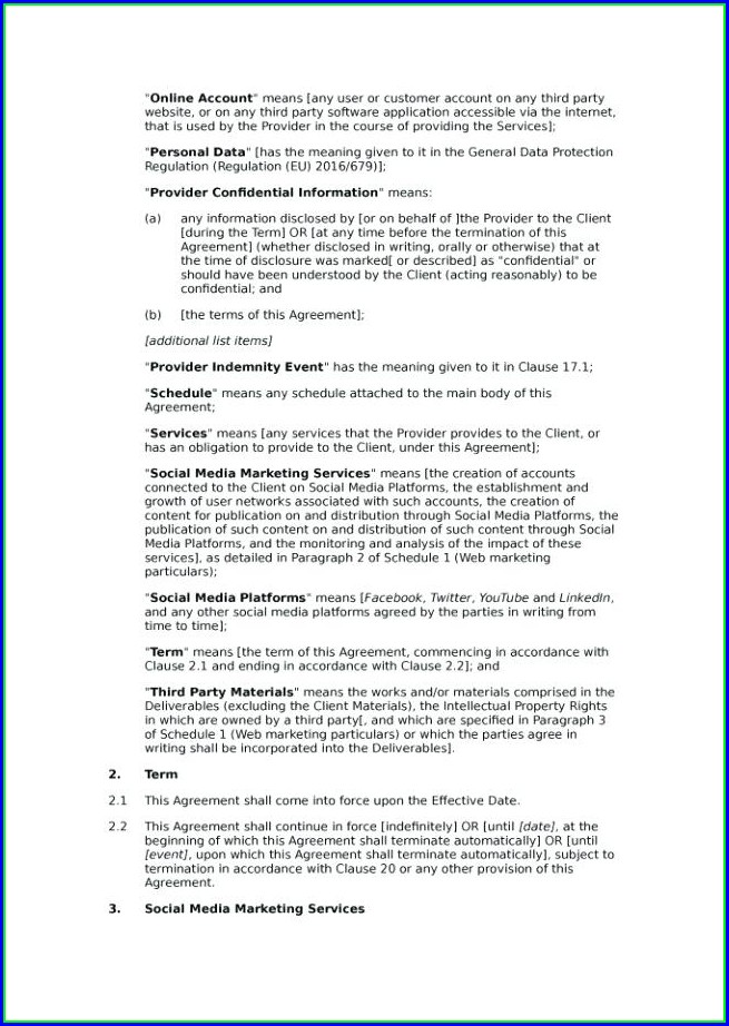 Consulting Contracts Templates Free