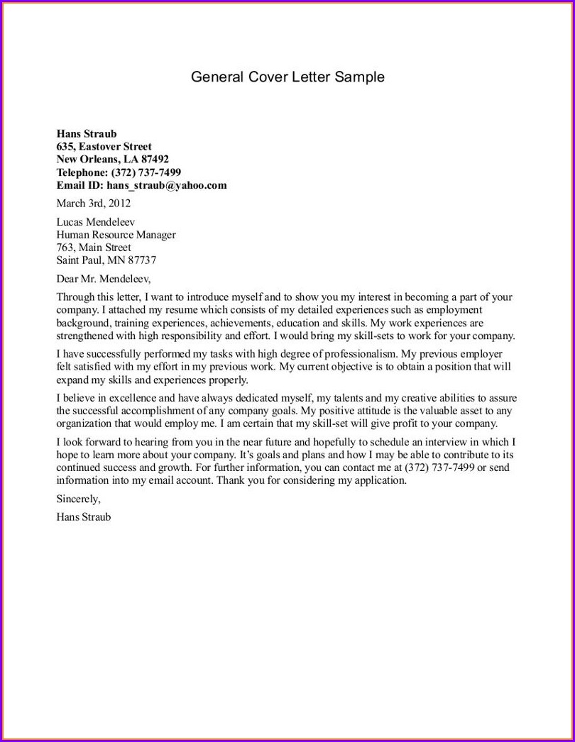 Cover Letter Sample For Resume Nurse