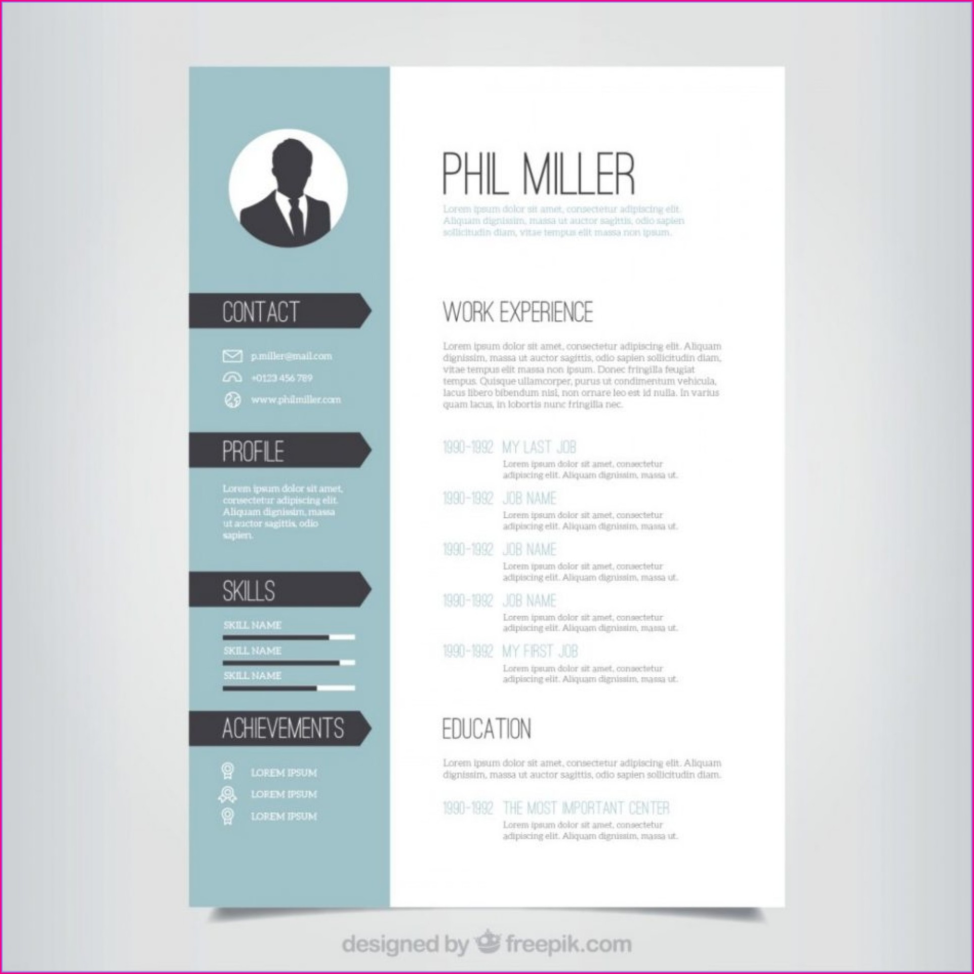 Creative Cv Templates Free Download Doc