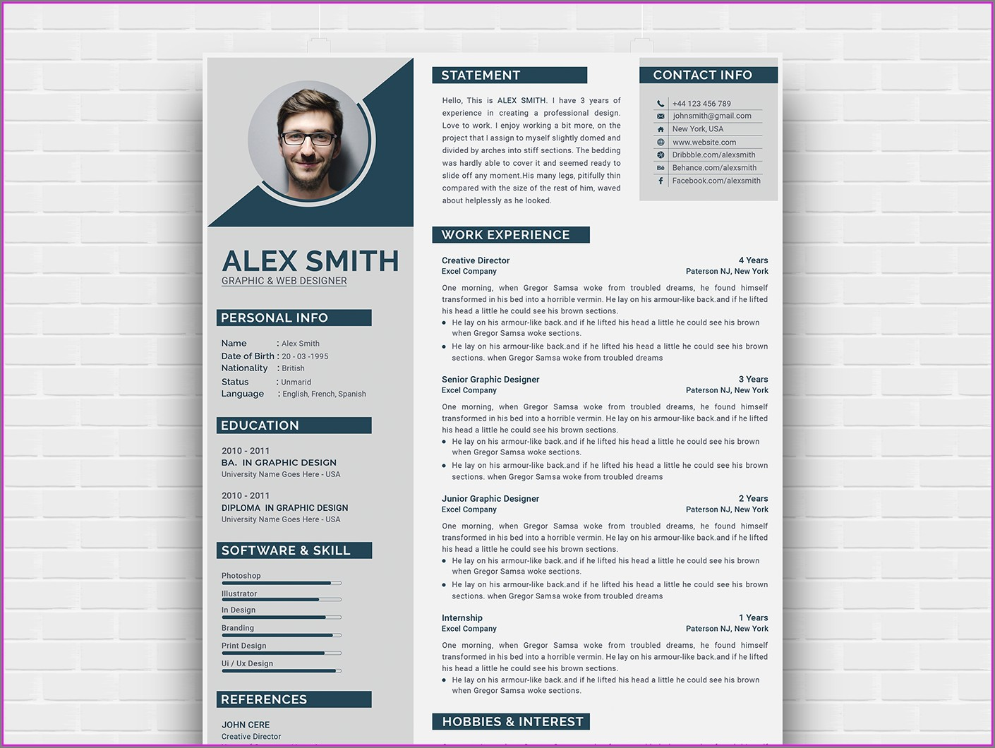 Curriculum Vitae Template Free Download South Africa