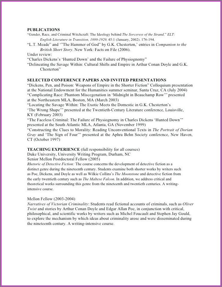 Curriculum Vitae Template Word For Teachers