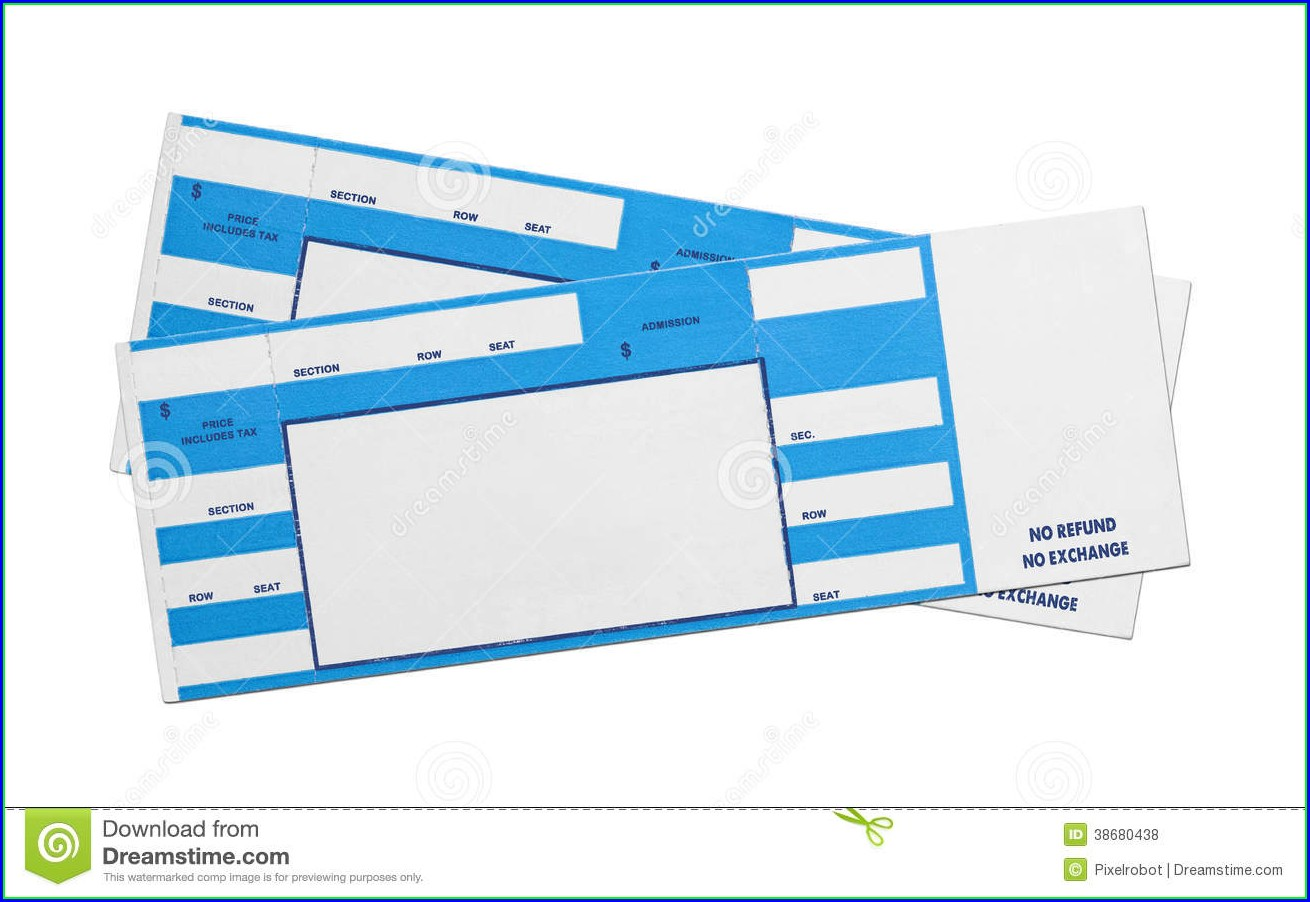Customizable Blank Concert Ticket Template Free