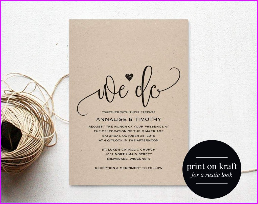 Customizable Editable Free Wedding Invitation Templates For Word