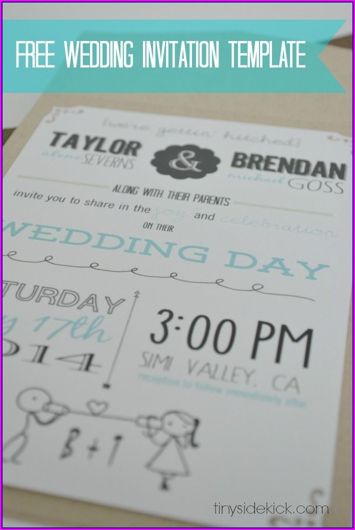 Customizable Wedding Invitation Templates Free
