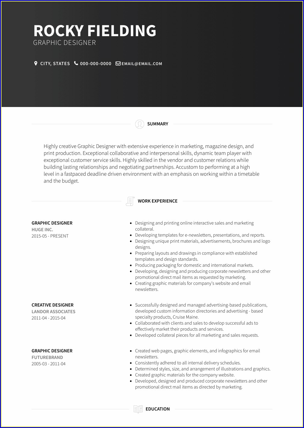 Cv Format Pdf Free Download
