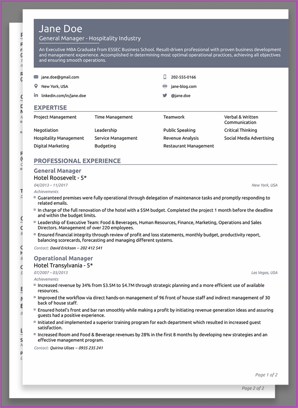 Cv Sample Pdf Free Download