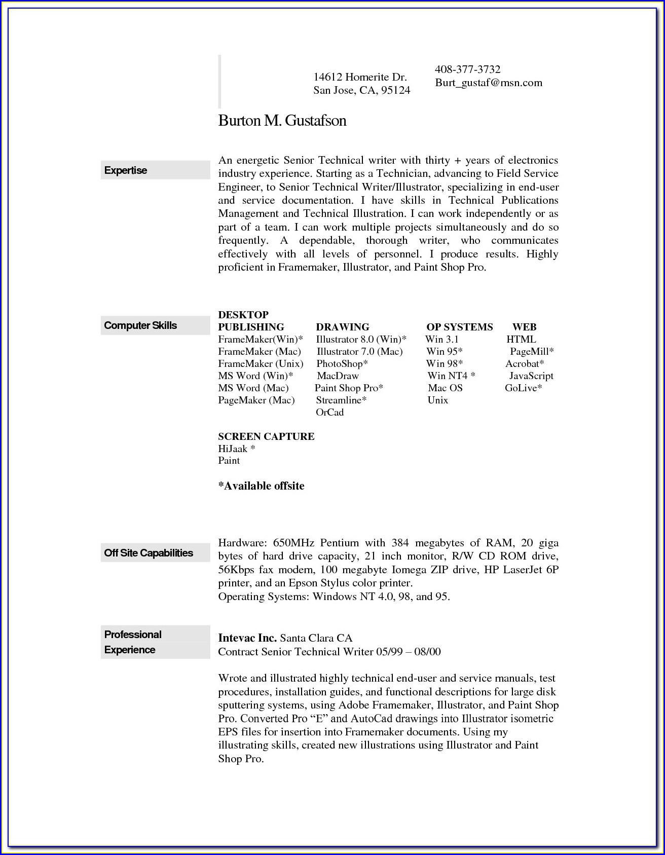 Cv Template Download Mac