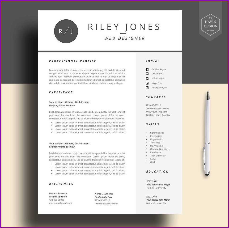 Cv Template Free For Mac