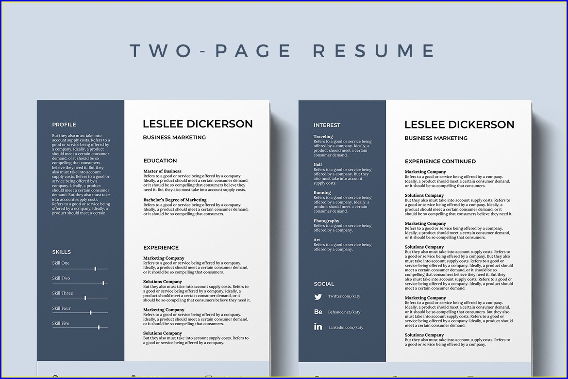 Cv Template Ms Word Free Download