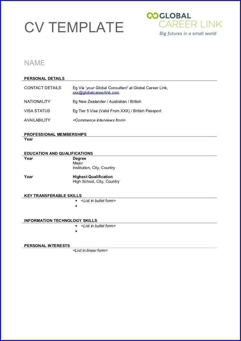 Cv Templates Free Download Word Document In Sri Lanka