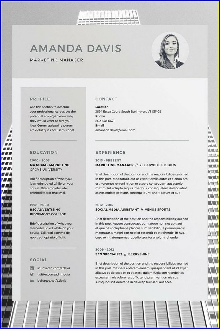 Cv Templates Free Download Word Document Uk