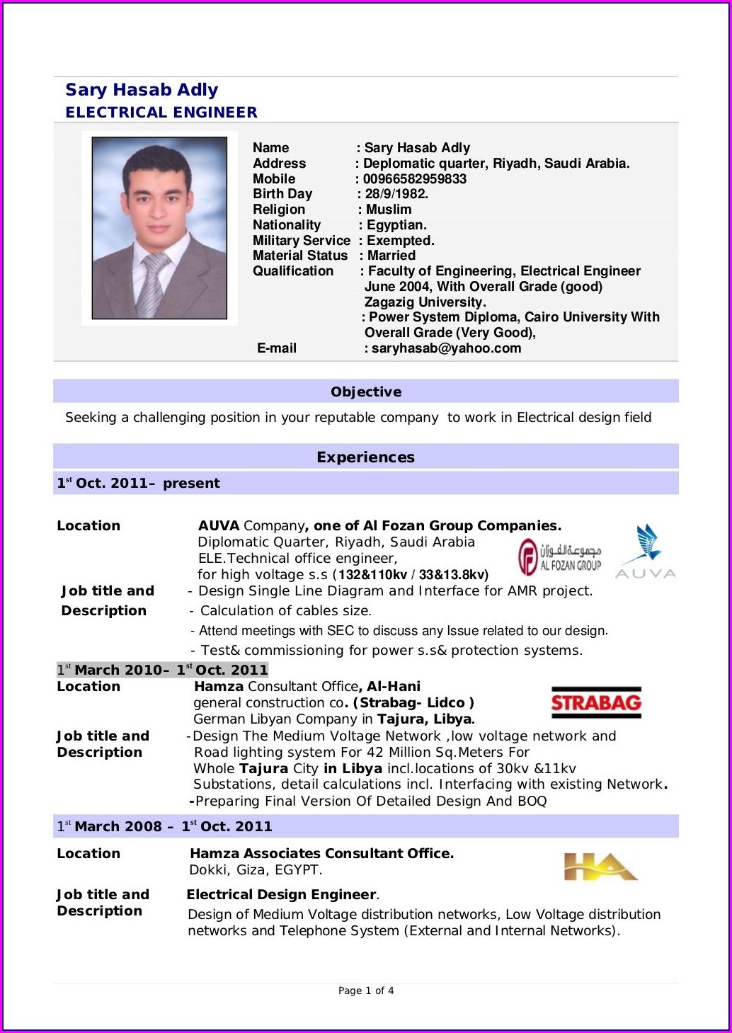 Diploma Electrical Resume Format Download