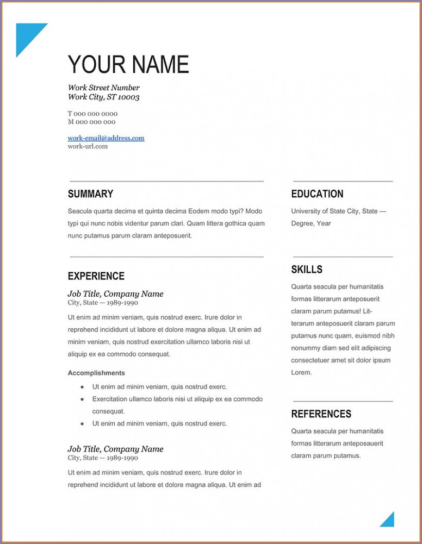 Download Resume Templates Word 2016