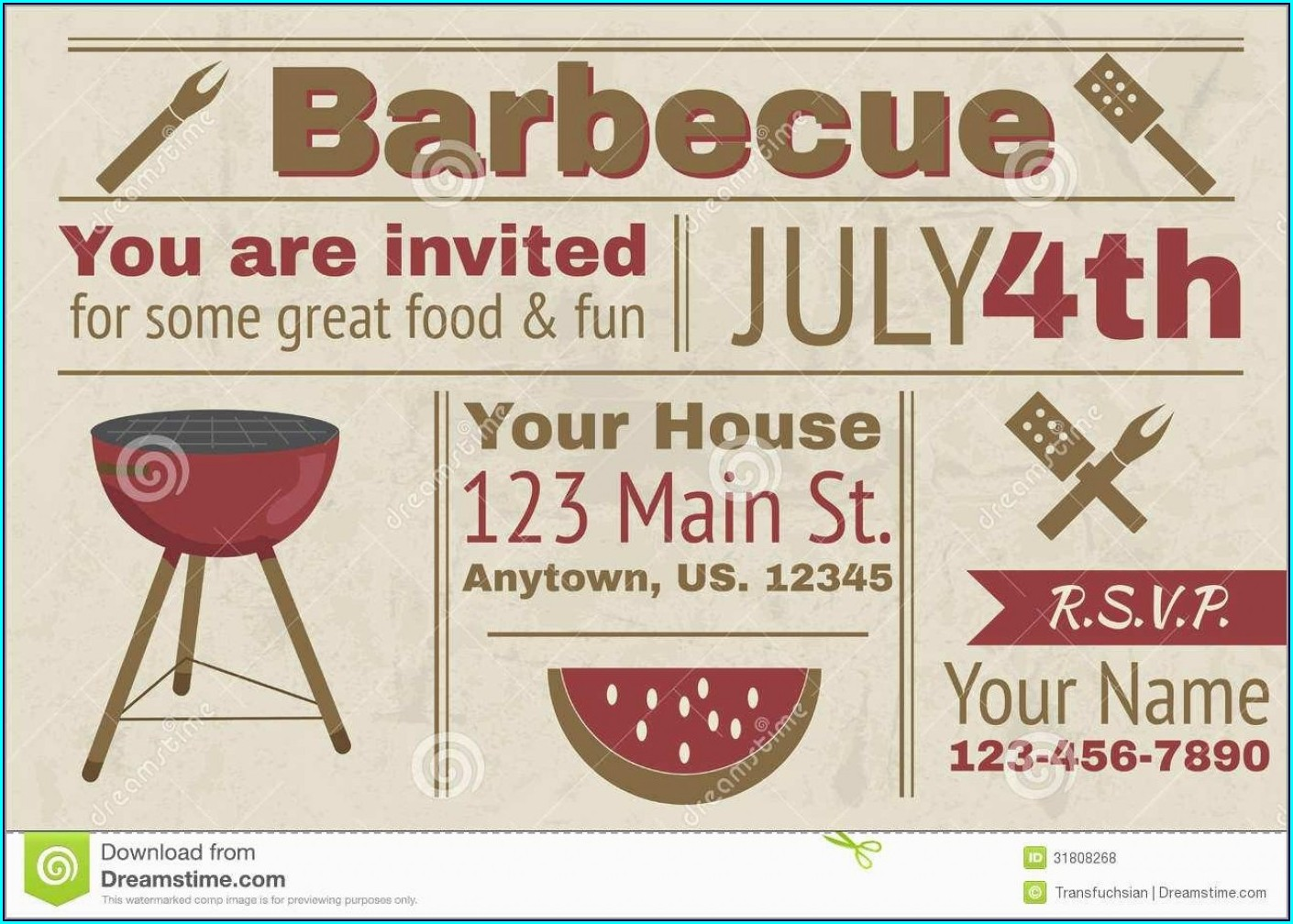 Downloadable Barbecue Invitation Template