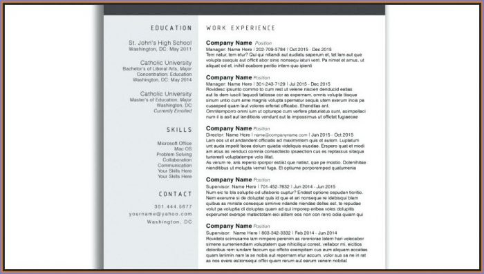 Downloadable Editable Free Resume Templates Word